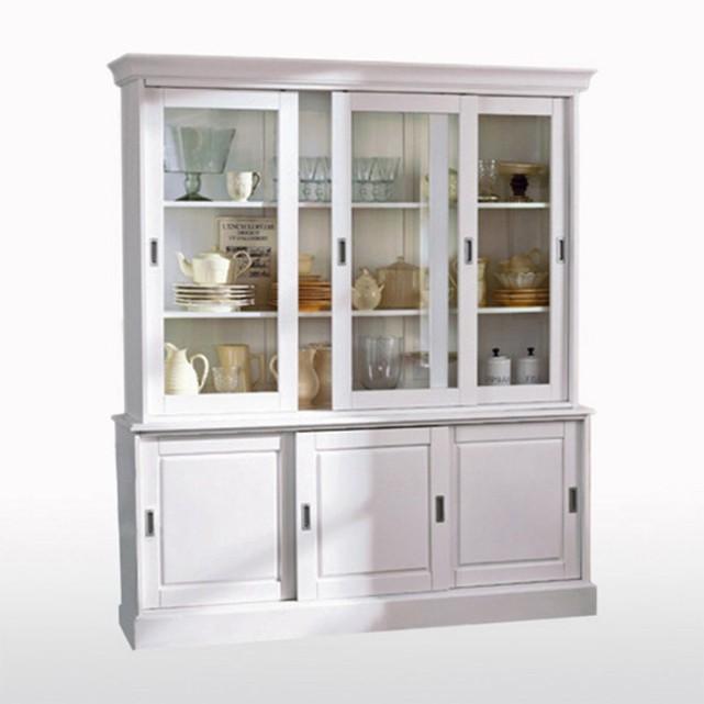 Buffet vaisselier blanc