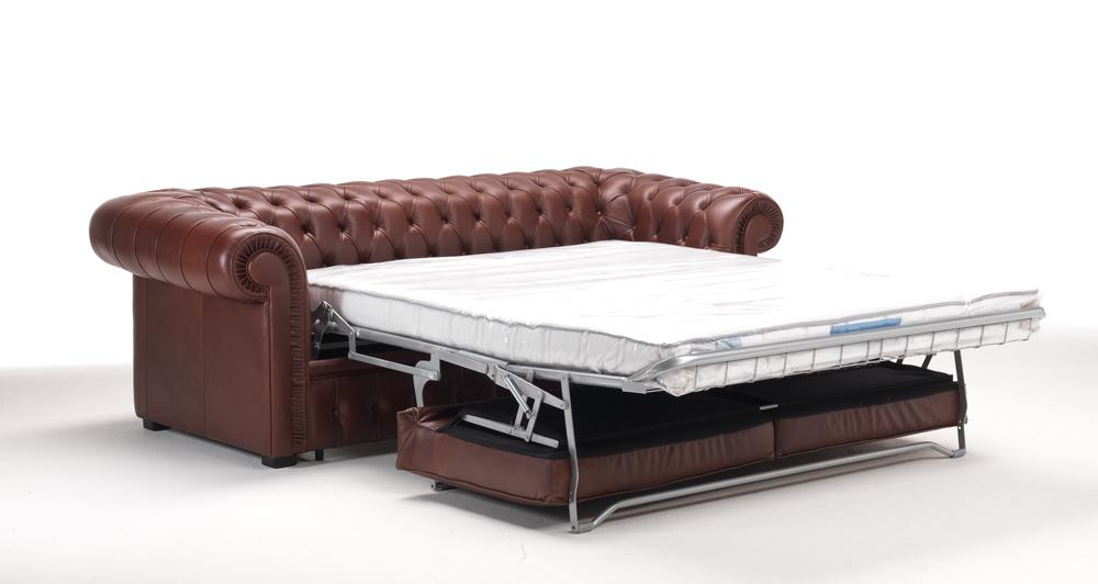 Canapé convertible chesterfield cuir