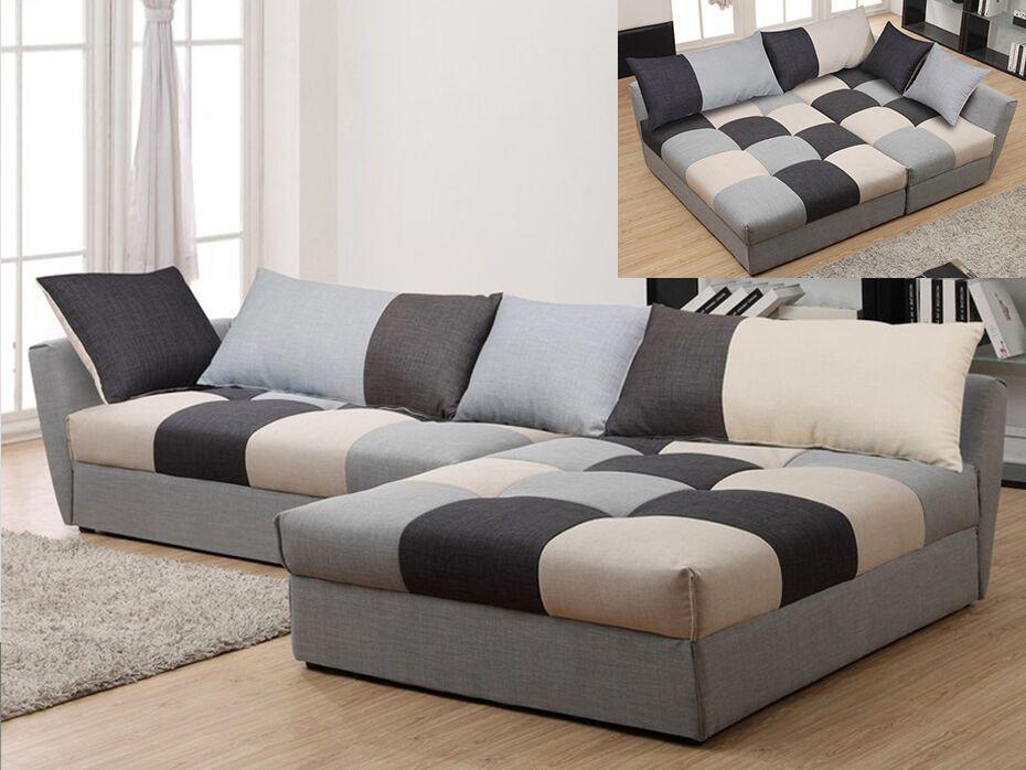 Canapé d angle convertible tissu