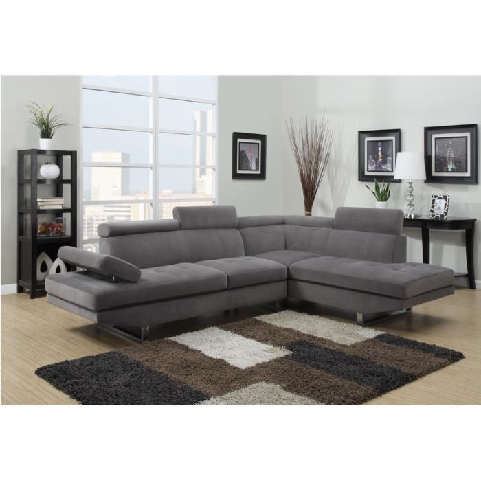 Canapé en tissu d angle