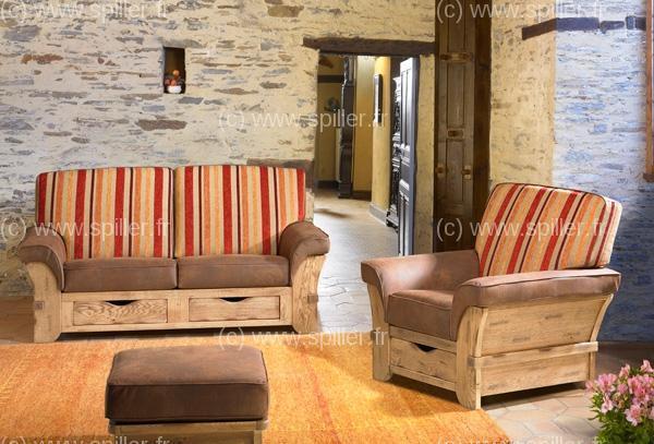 Canapé rustique