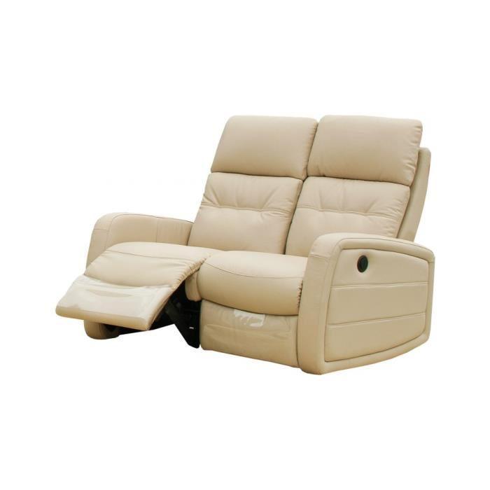 Canape relaxation 2 places electrique