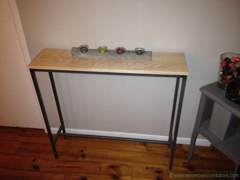Console bois et acier