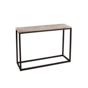 Console bois et métal