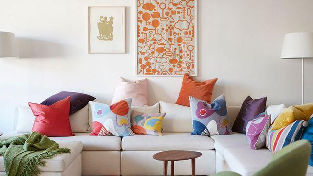Coussin canapé coloré