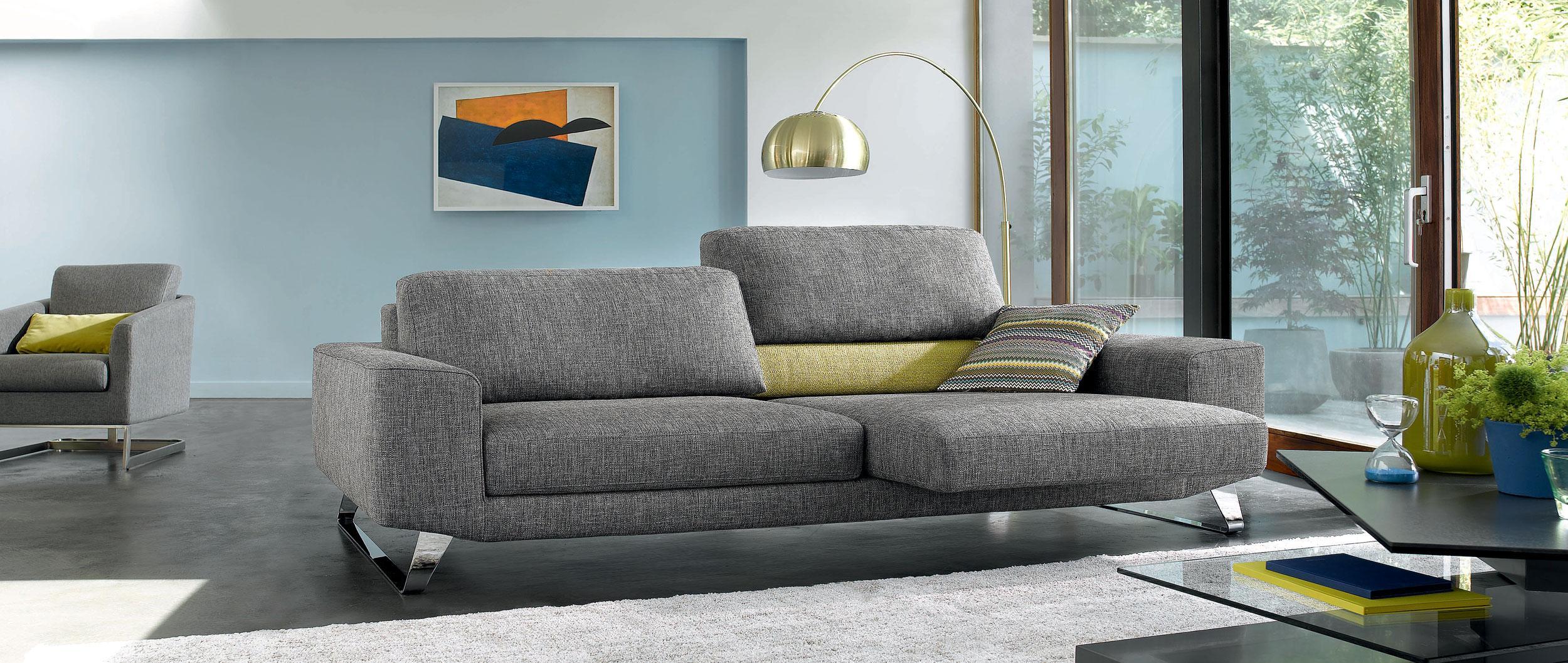 Cuir center canapé tissu