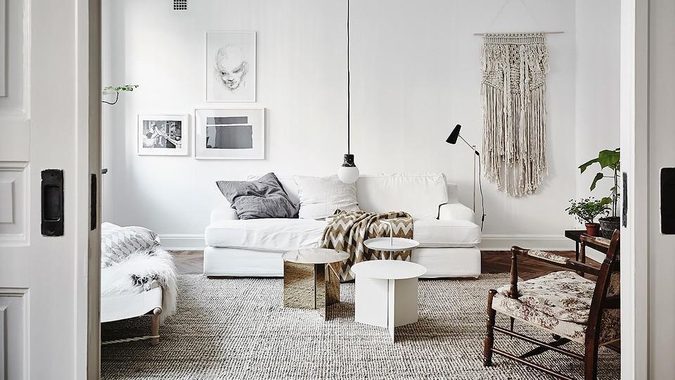 Deco blanche et bois