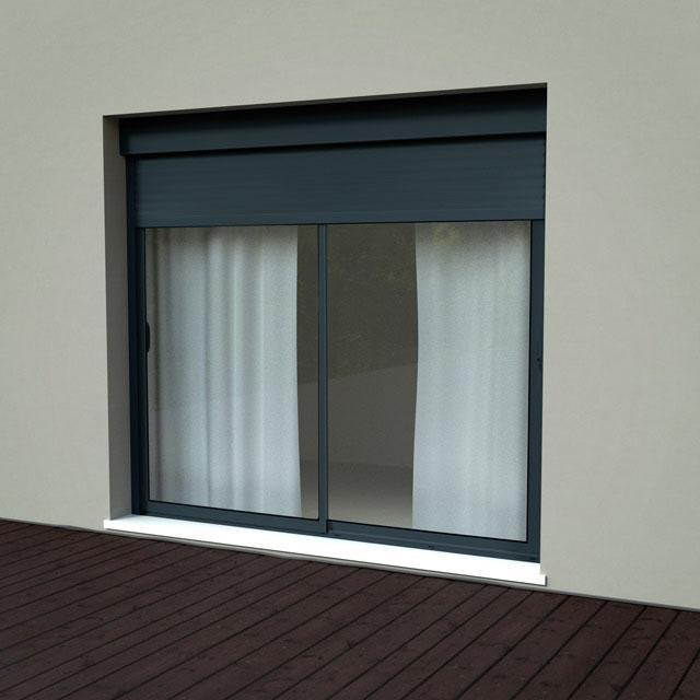 fenetre aluminium avec volet roulant int gr. Black Bedroom Furniture Sets. Home Design Ideas