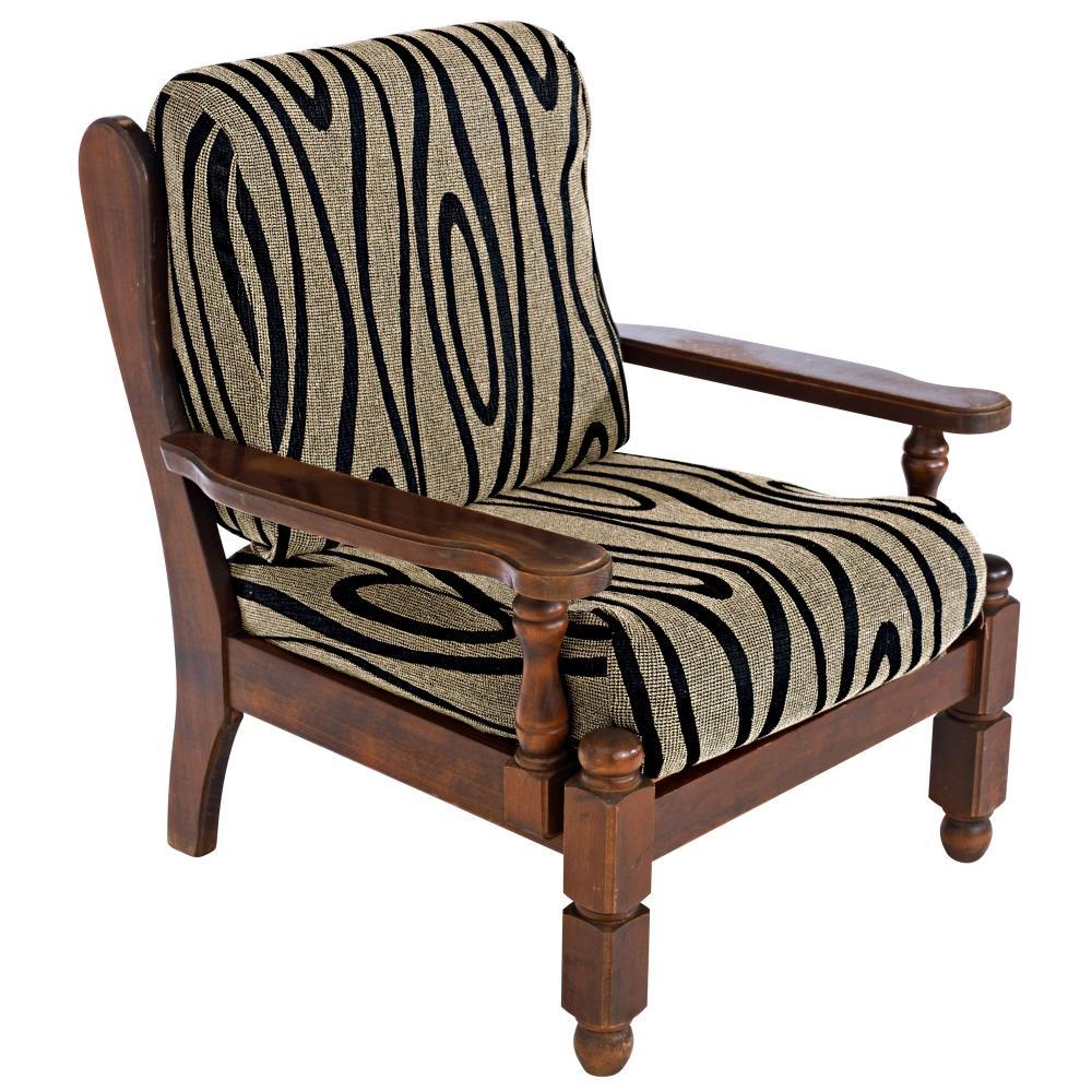 Housse coussin fauteuil rustique