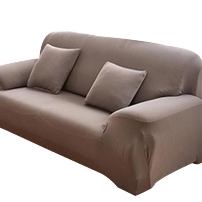 Housse de canapé 3 places avec accoudoir