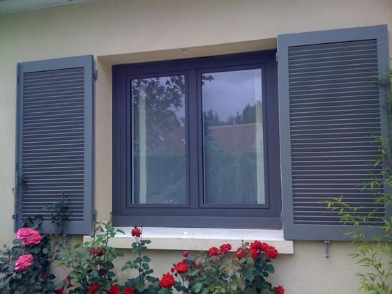 Menuiserie pvc gris anthracite