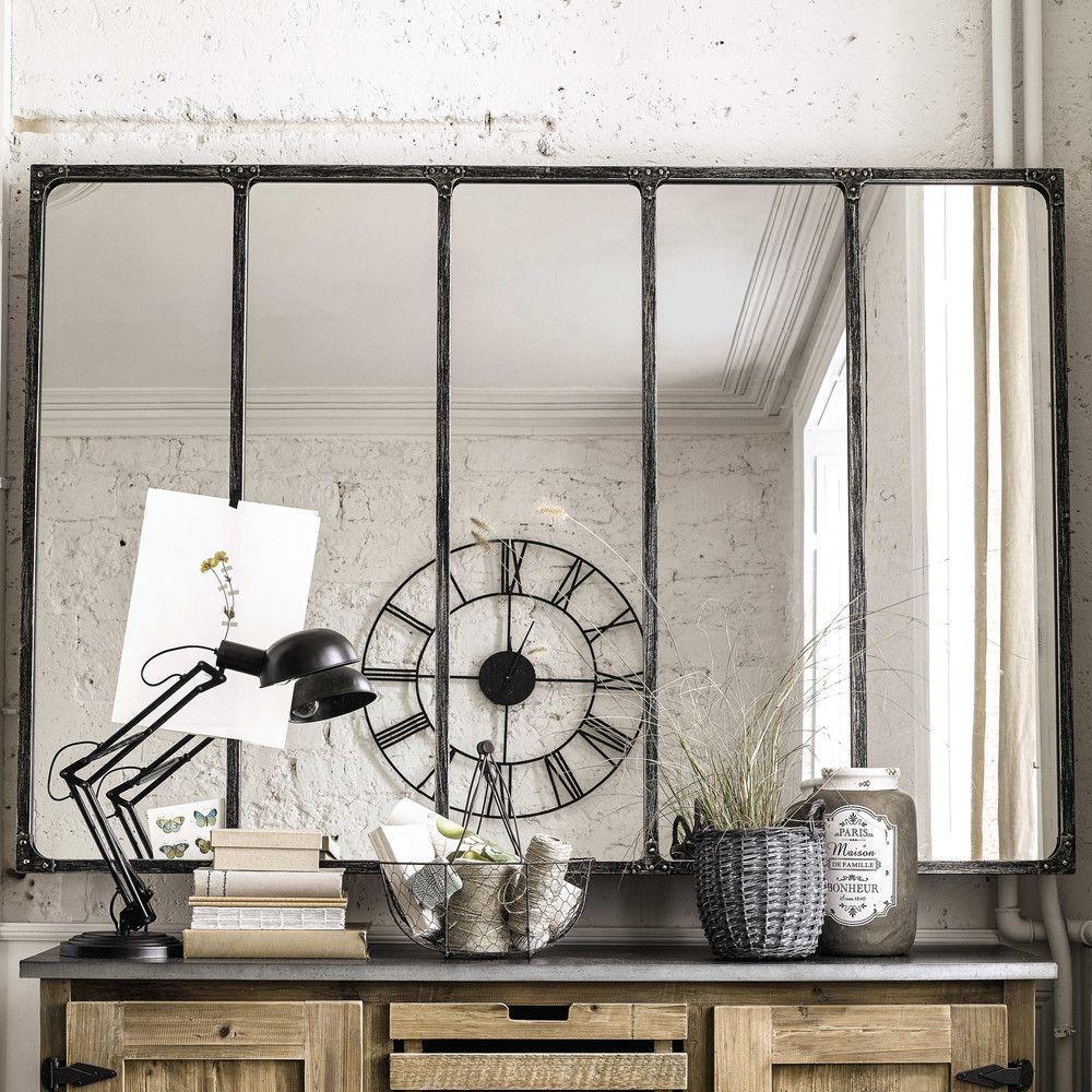 Miroir industriel maison du monde