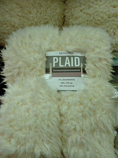 Monoprix plaid