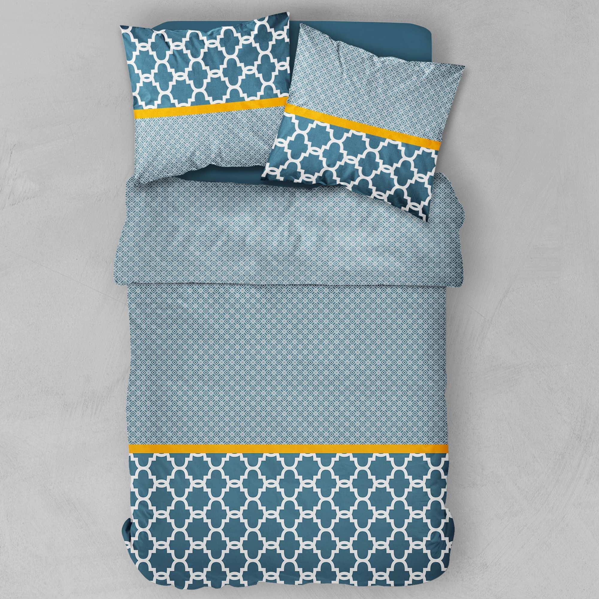 Parure de lit bleu canard