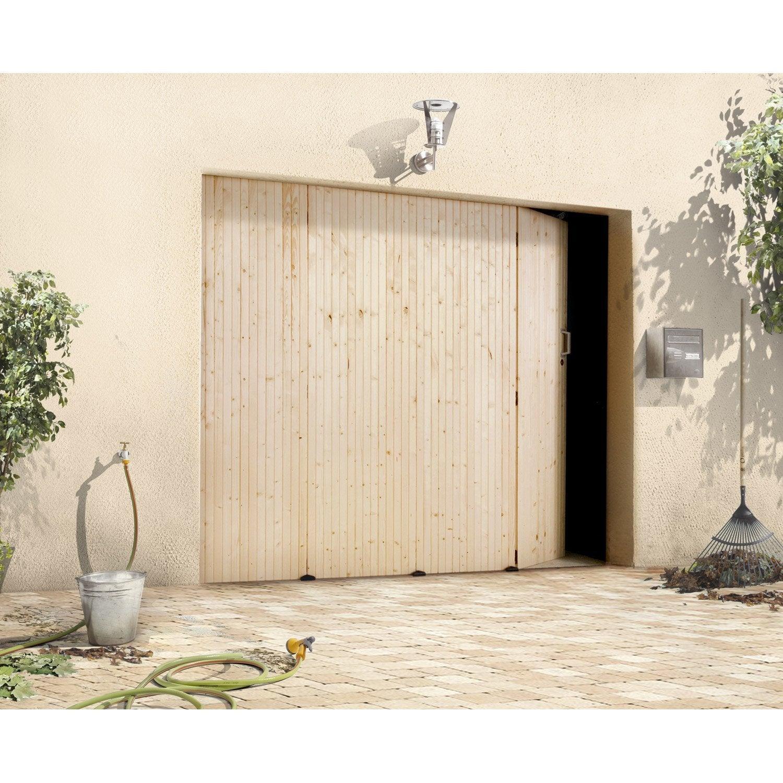 Porte de garage coulissante manuelle