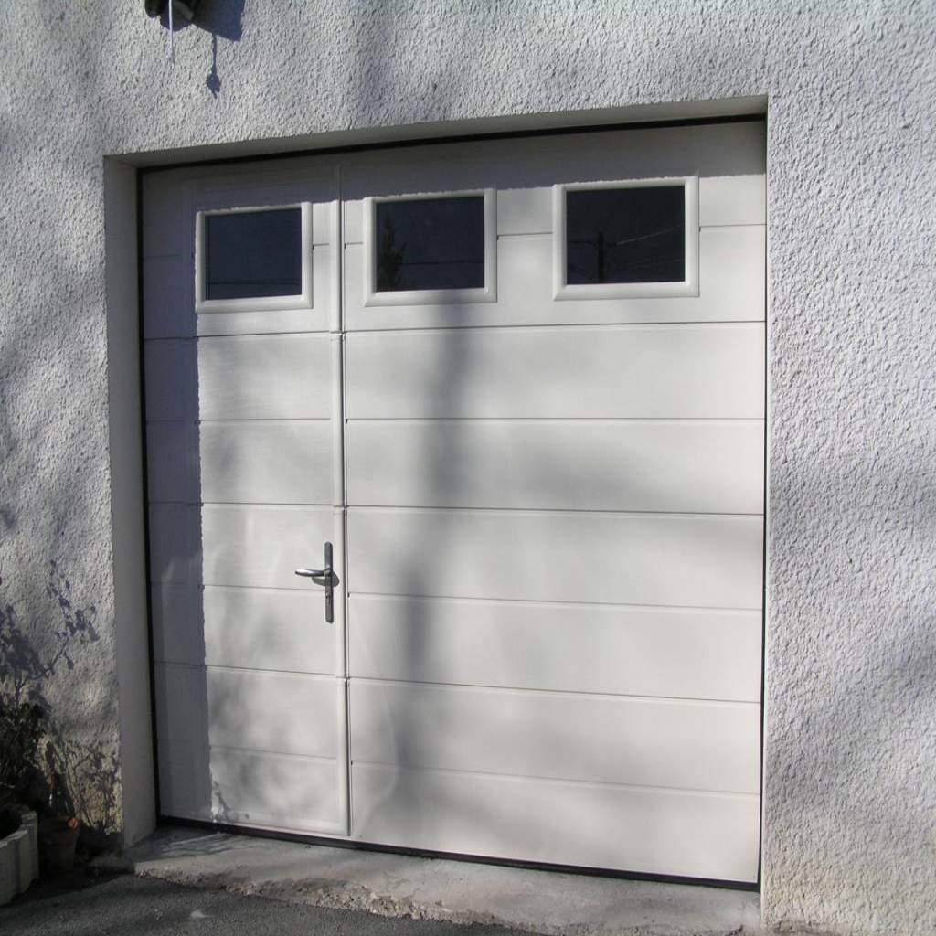 Porte De Garage Sectionnelle Avec Portillon Leroy Merlin Gamboahinestrosa