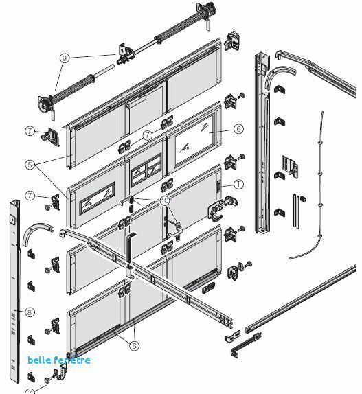 Porte de garage tubauto basculante pieces detachees - Porte de garage basculante non debordante tubauto ...