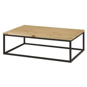 Table basse bois metal
