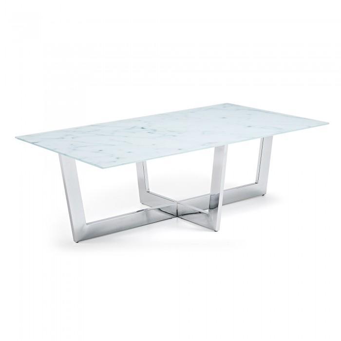 Table basse effet marbre